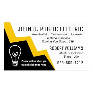 Eletricista do parafuso de relâmpago da ampola cartão de visita