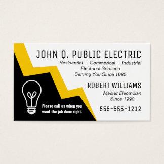 Eletricista do parafuso de relâmpago da ampola cartão de visitas