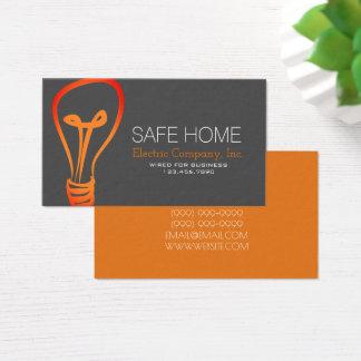 Eletricista, elétrico, cartão de indústria da