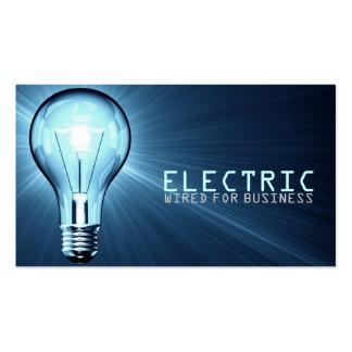 Eletricista elétrico cartão de indústria da modelos cartao de visita