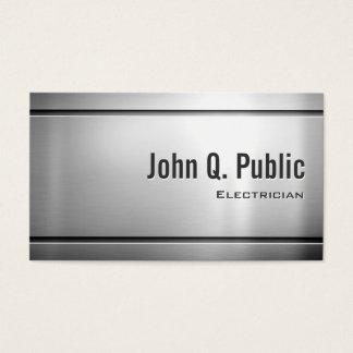 Eletricista - metal de aço inoxidável legal cartão de visitas