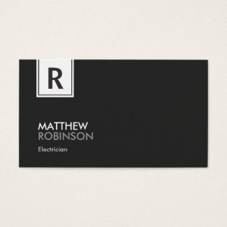 Eletricista - monograma elegante moderno cartão de visitas