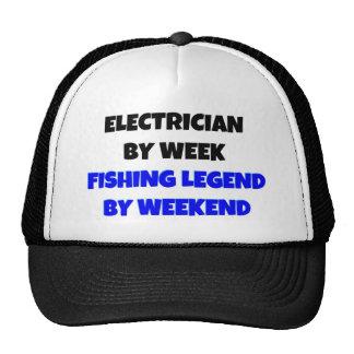 Eletricista pela legenda da pesca da semana em o f boné