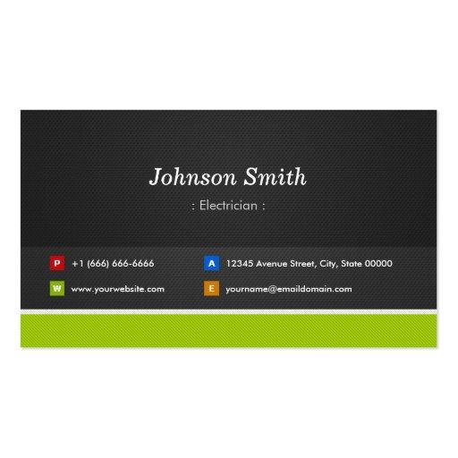 Eletricista - profissional e prêmio modelo cartao de visita