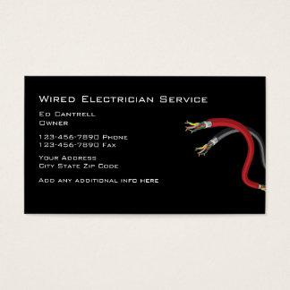 Eletricista simples cartão de visitas