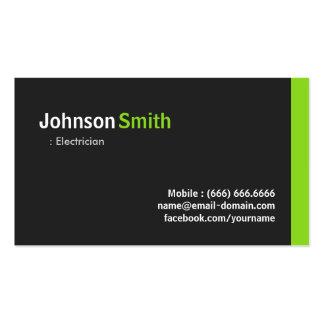 Eletricista - verde minimalista moderno cartão de visita