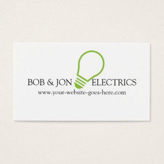 Elétrico azul, cartão de visita do eletricista