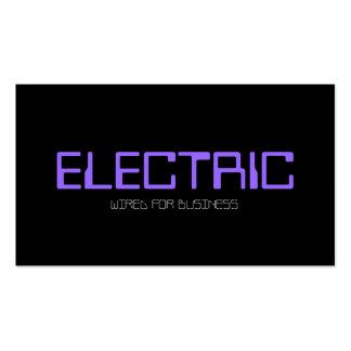 Elétrico, eletricista, ampola da eletricidade modelos cartoes de visitas