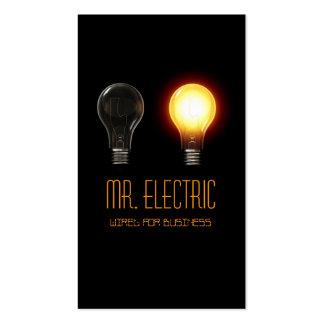 Elétrico eletricista cartão de visita da eletric