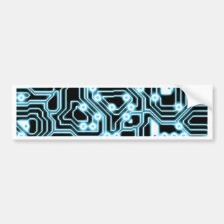 Elétron - azul/preto adesivo para carro