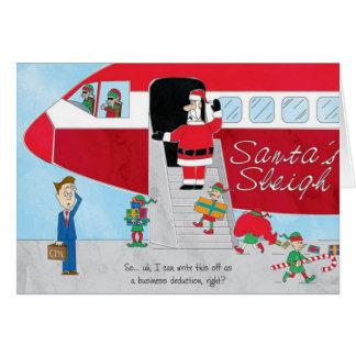 Elevação do trenó do papai noel do cartão de Natal