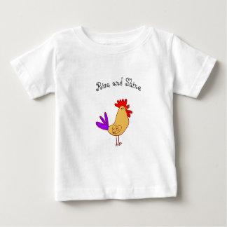 Elevação e brilho do Tshirt do bebê Camiseta Para Bebê
