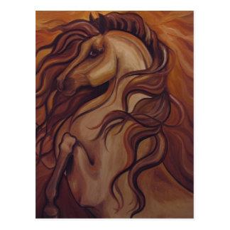 Elevando o cavalo espanhol cartao postal