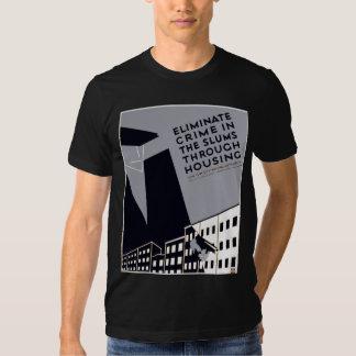 Elimine o crime nos precários t-shirt