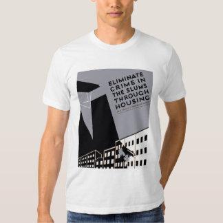 Elimine o crime nos precários tshirt