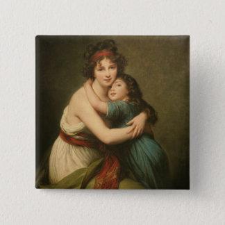 Elisabeth e sua filha bóton quadrado 5.08cm