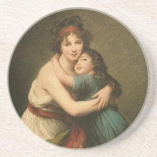 Elisabeth e sua filha porta copos de arenito