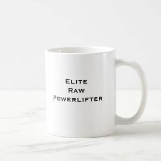 Elite Powerlifter cru Caneca De Café