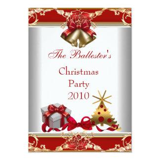 Elite vermelha do ouro branco da festa de Natal do Convite 12.7 X 17.78cm