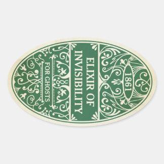 Elixir verde da etiqueta da poção da