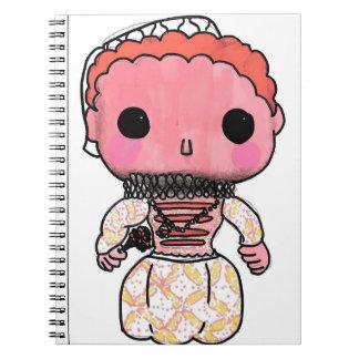Elizabeth mim caderno da história - estilo do pop