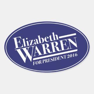 Elizabeth Warren para a etiqueta do oval do Adesivo Oval