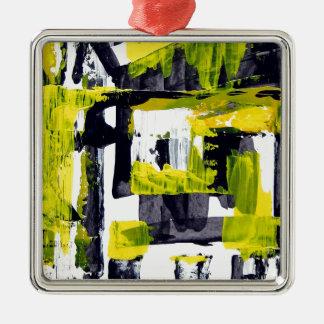 Elle-abstract-010-1620-Original-Abstract-Art-untit Ornamento Quadrado Cor Prata