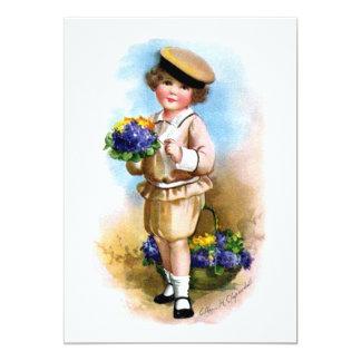 Ellen H. Clapsaddle: Criança com miosótis Convites
