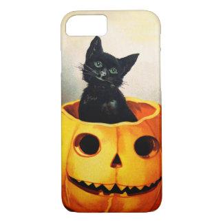 Ellen H. Clapsaddle: Gato preto em Jack O'Lantern Capa iPhone 7