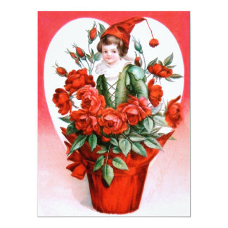 Ellen H. Clapsaddle: Rosas dos namorados Convite 16.51 X 22.22cm