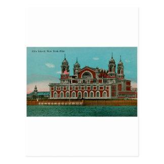 Ellis Island do vintage, Nova Iorque Cartão Postal