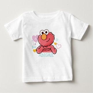Elmo adorável | adiciona seu próprio nome camiseta para bebê