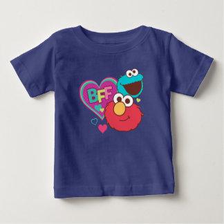 Elmo & monstro do biscoito - BFF Camiseta Para Bebê