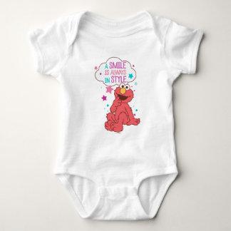 Elmo | um sorriso está sempre no estilo body para bebê