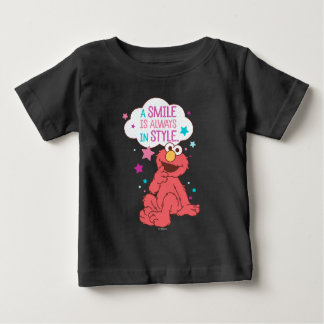 Elmo | um sorriso está sempre no estilo camiseta para bebê