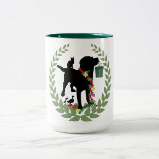Elogio de Labrador Caneca De Café Em Dois Tons