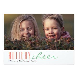 Elogio do feriado do cartão com fotos   do feriado