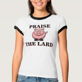 Elogio engraçado do bacon da carne de porco a camisetas