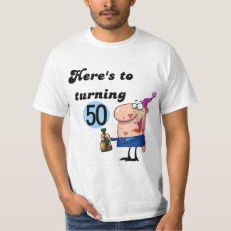 Elogios a 50 camisetas e presentes do aniversário