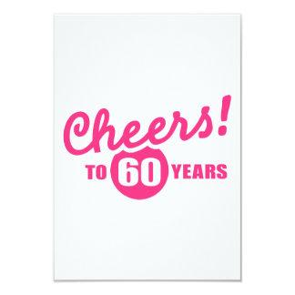 Elogios a 60 anos de aniversário convites