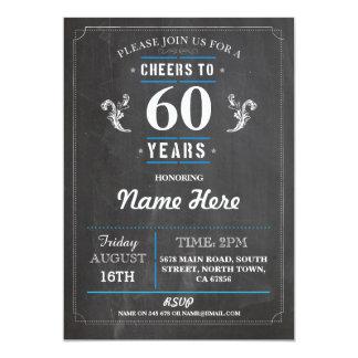 Elogios a 60 do aniversário anos 50th do convite