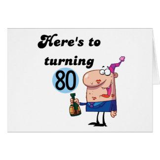Elogios a 80 camisetas e presentes do aniversário cartão comemorativo