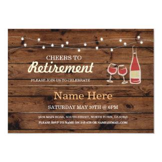 Elogios ao convite de madeira do vinho do partido