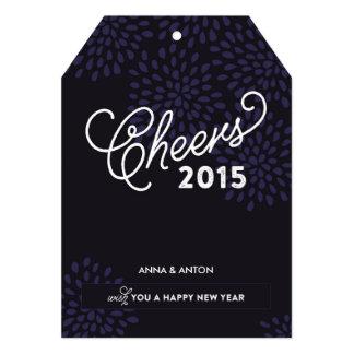 Elogios ao Tag do ano novo Convite Personalizado