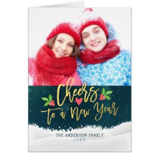 Elogios aos cartões com fotos dos cartões de natal