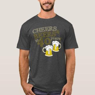 ELOGIOS & CERVEJAS a 40 anos! T do aniversário Camiseta