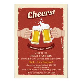 Elogios com bom convite das cervejas