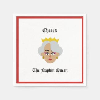 Elogios do guardanapo do cocktail da rainha do