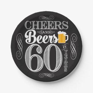 """Elogios e cervejas a 60 anos de placas de papel 7"""""""