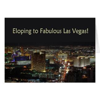 Eloping a Las Vegas fabuloso!  Cartão